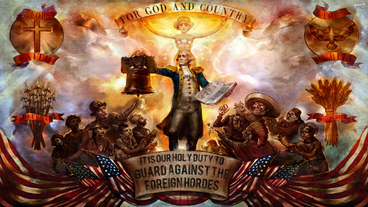 Bioshock Infinite George Washington mural