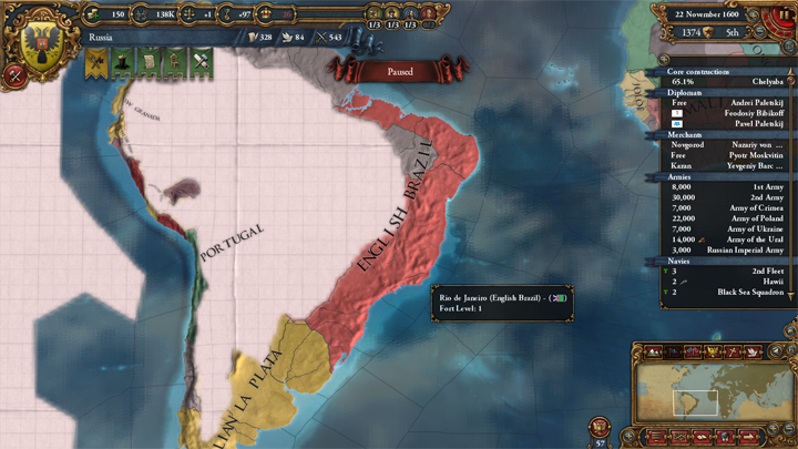 EUIV: English Brazil in 1600