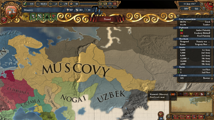 Europa Universalis IV: Muscovy in 1517