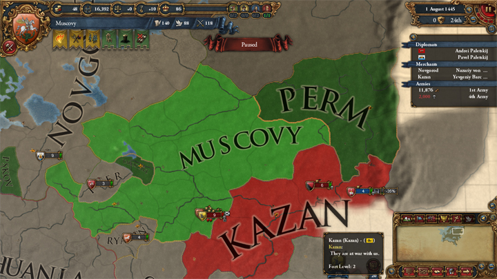 Muscovy at war with Kazan