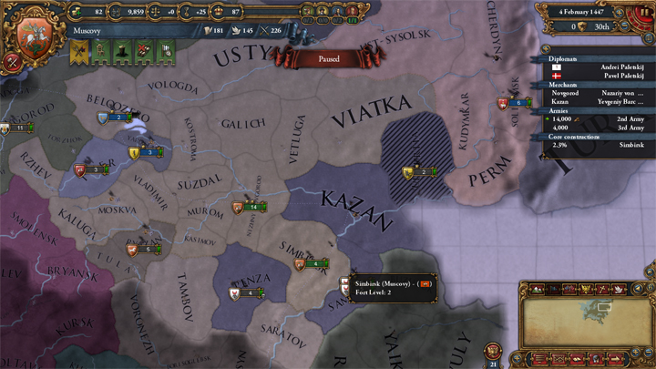 Muscovy after war with Kazan