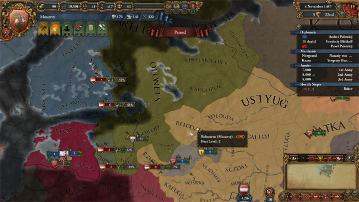 Muscovy fighting Austria 1457