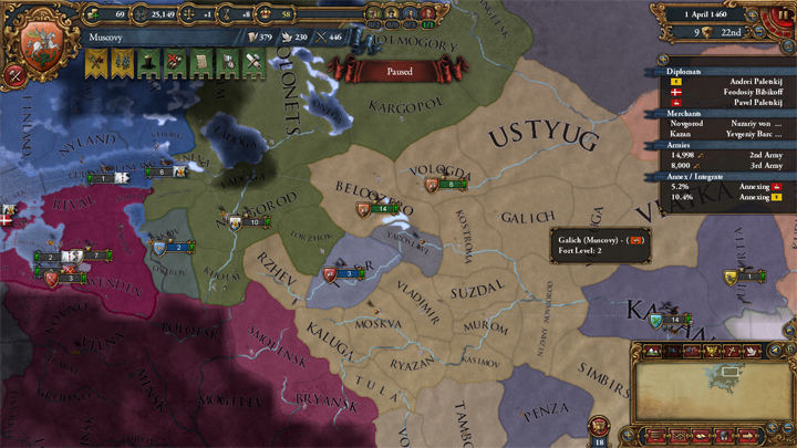 Preparing to attack Novgorod 1460