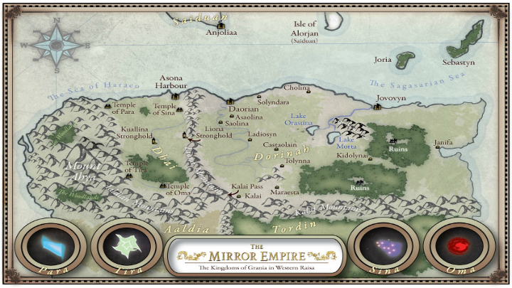 Mirror Empire map
