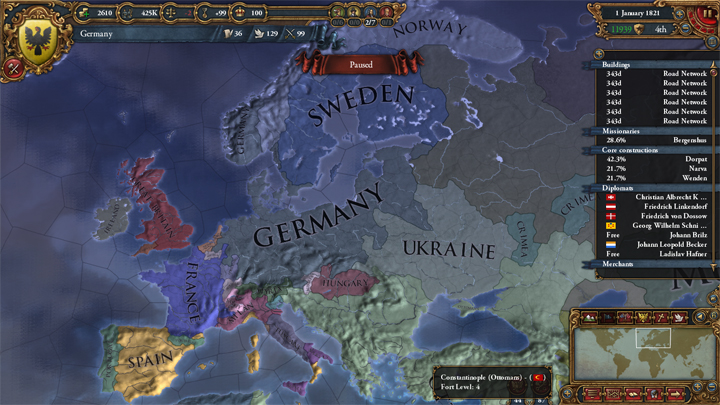 Europa Universalis IV: Germany 1821